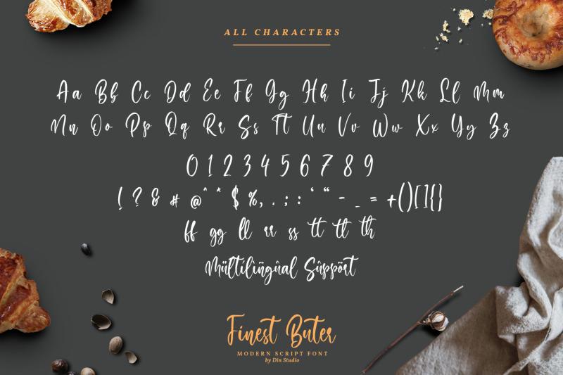 finest-butter-modern-handwritten-font
