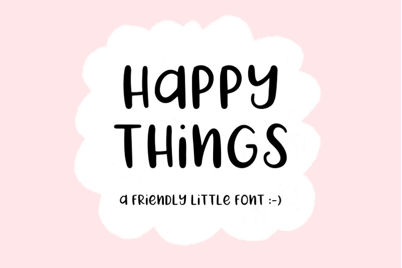 happy-things-a-hand-drawn-font
