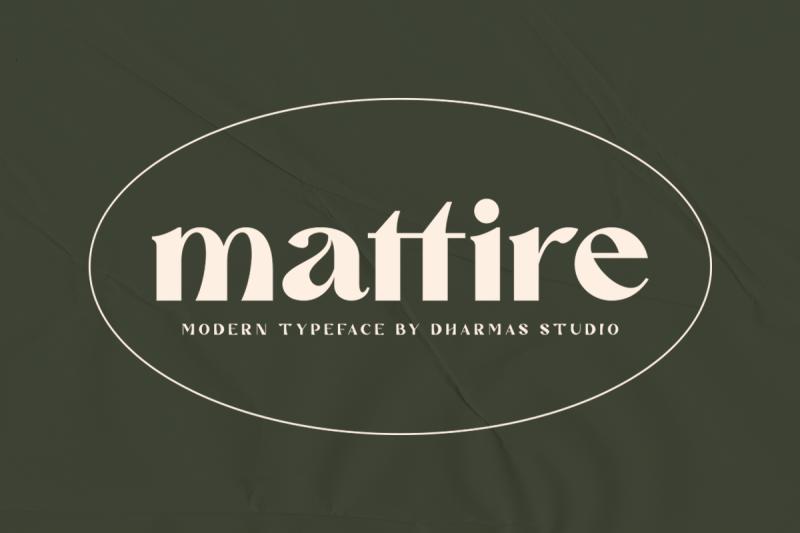 mattire-modern-serif-typeface