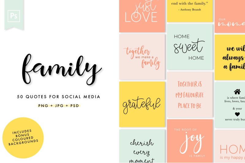 family-social-media-quotes-pack