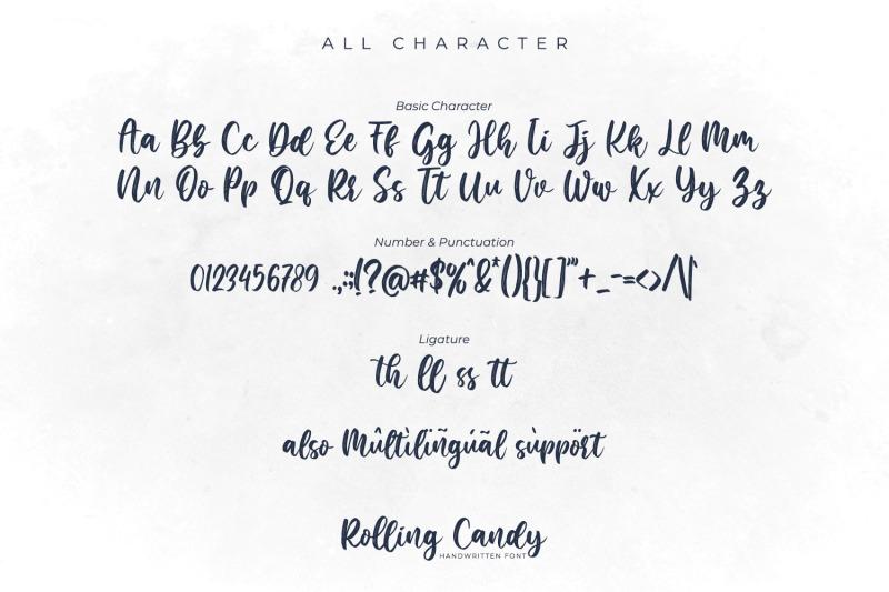rolling-candy-beautiful-handwritten-font