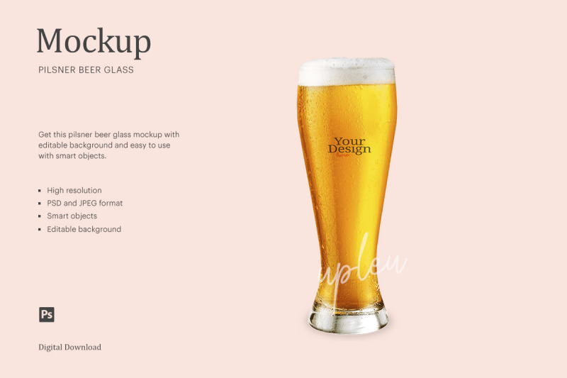 Download Revival Glass With Stout Beer Mockup Yellowimages