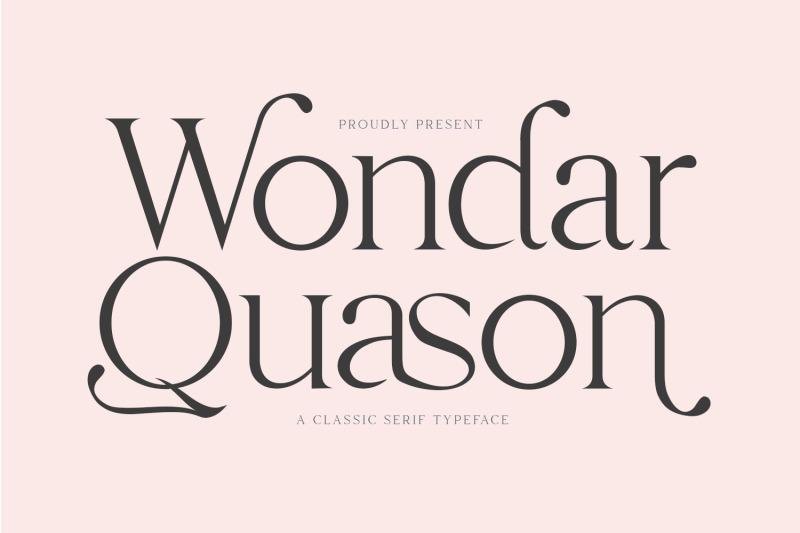 wondar-quason-classic-serif-typeface