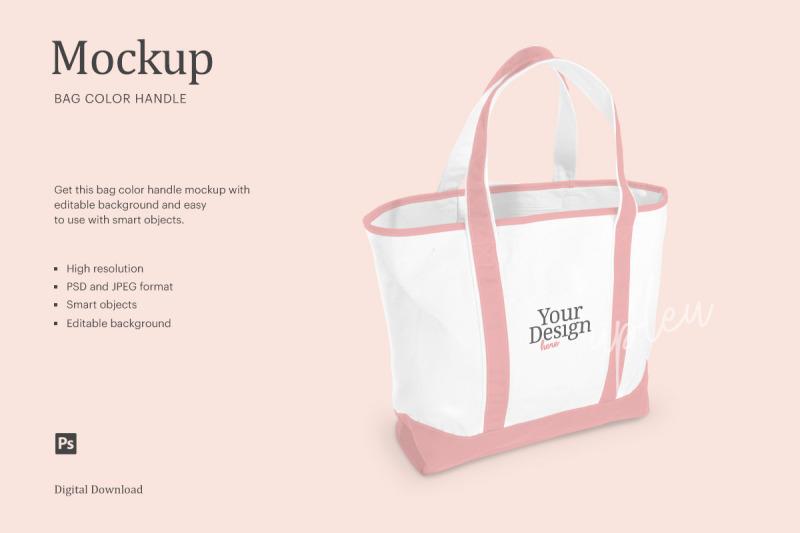Download 2 Tone Tote Bag Mockup   Compatible With Affinity Designer Free Mockups