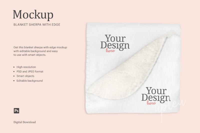 Download Blanket Sherpa Mockup   Compatible With Affinity Designer Free Mockups