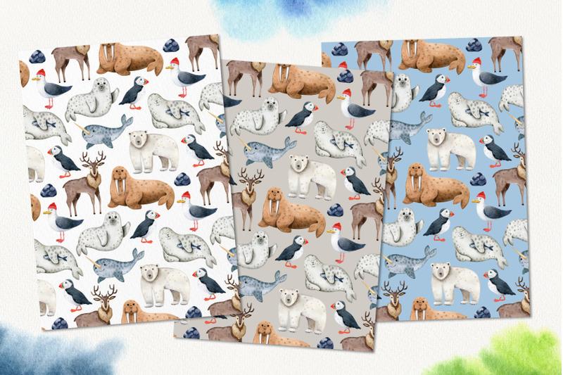 northern-sea-animals-watercolor-set