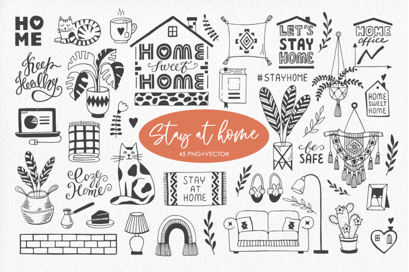 stay-at-home-doodle-collection