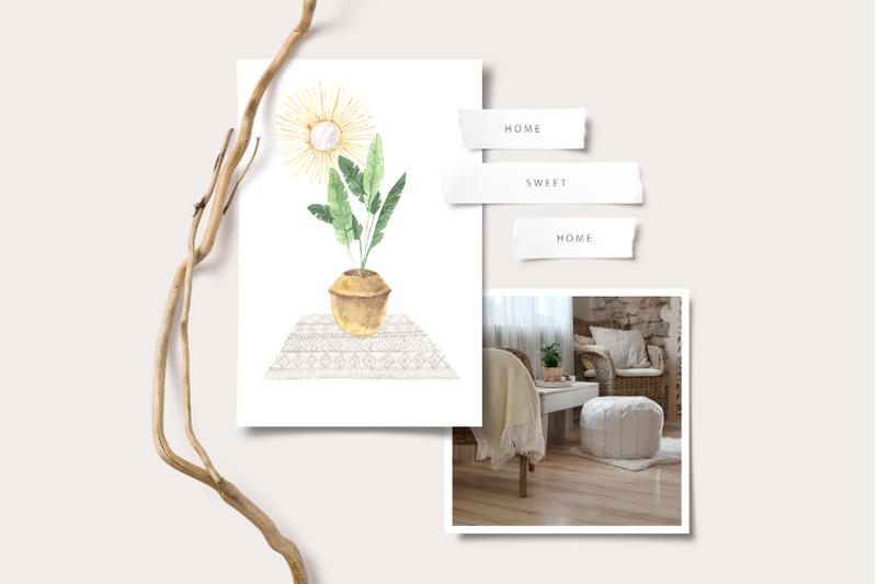 boho-home-interior-clipart