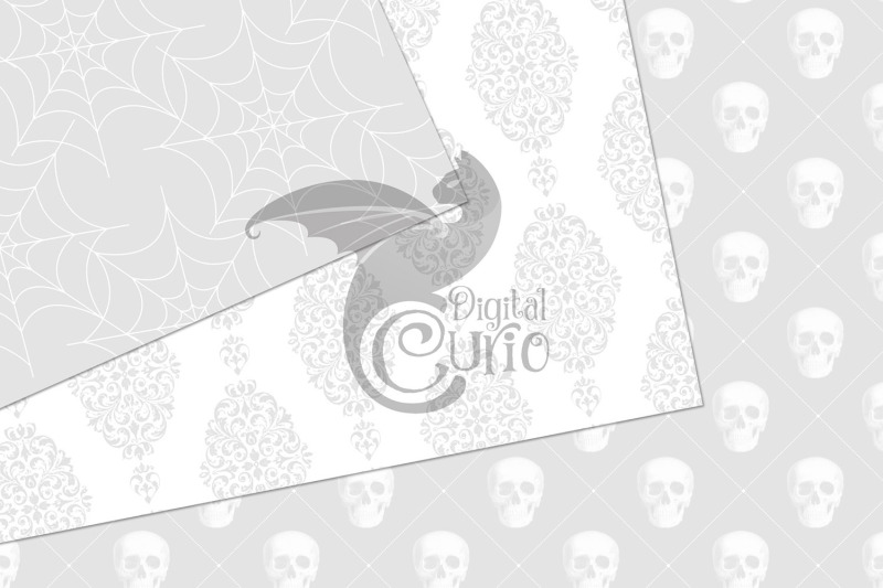 white-gothic-digital-paper