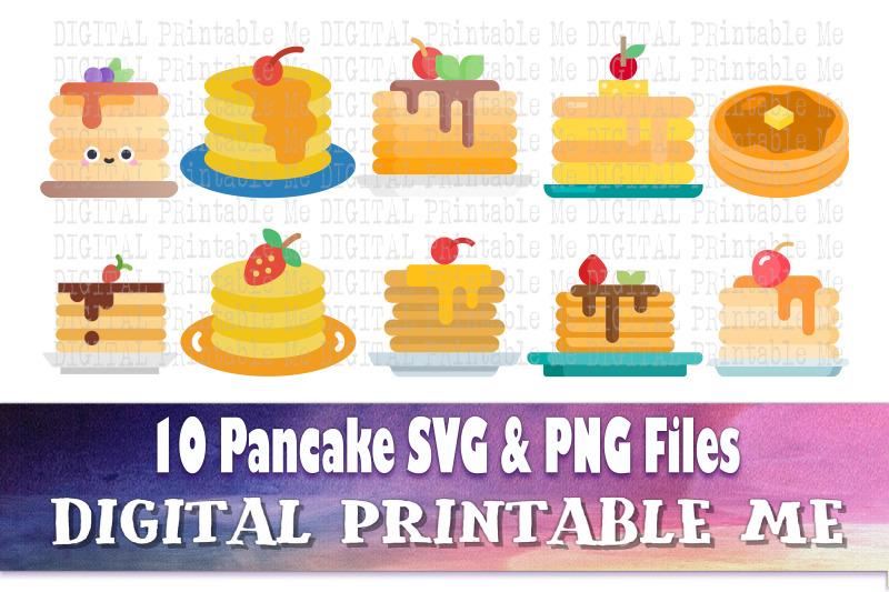 pancake-svg-bundle-clip-art-png-10-image-pack-digital-cut-files