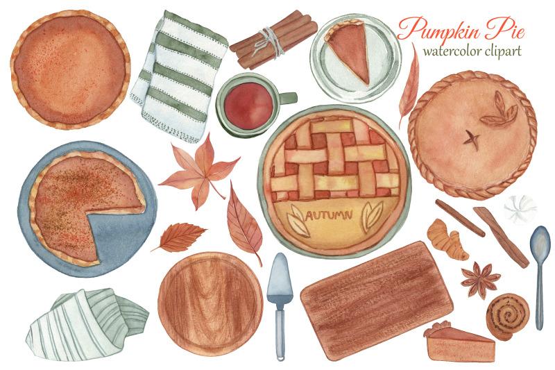 pumpkin-pie-clipart-watercolor-fall-png-thanksgiving