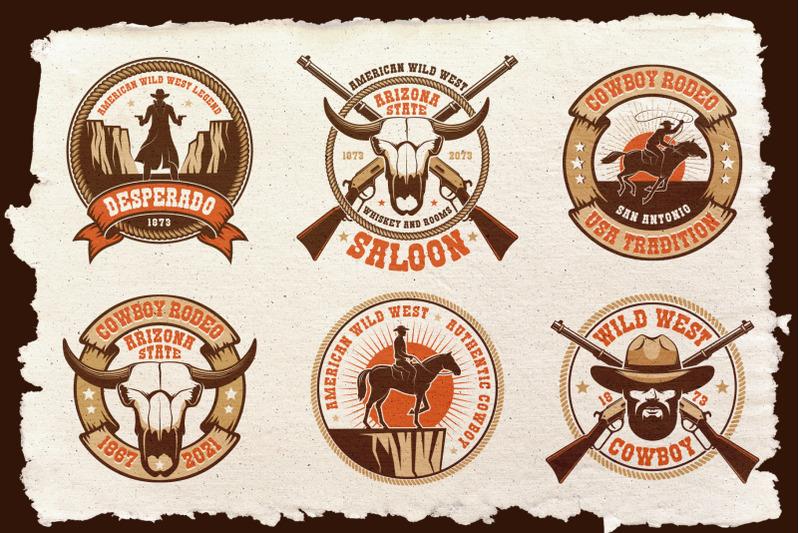 cowboy-western-logo-template-pack