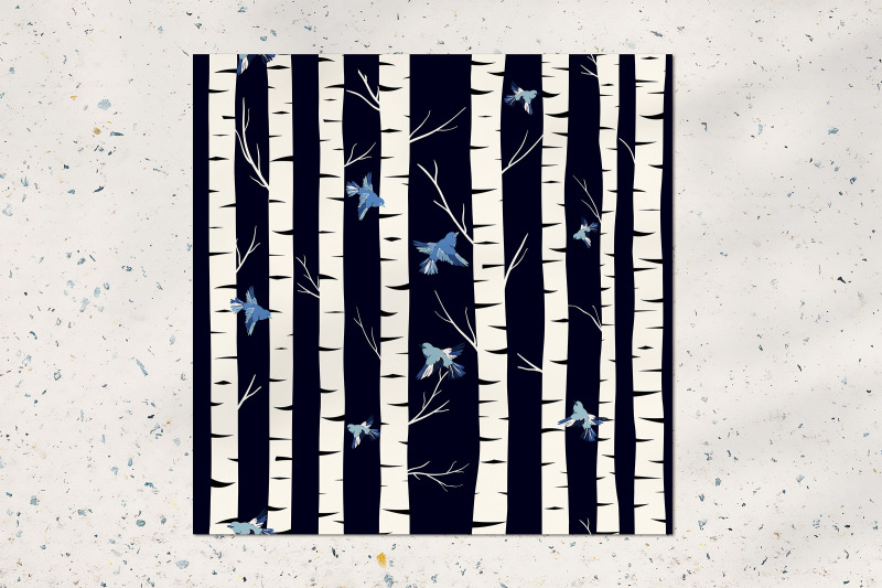 birch-grove-seamless-pattern