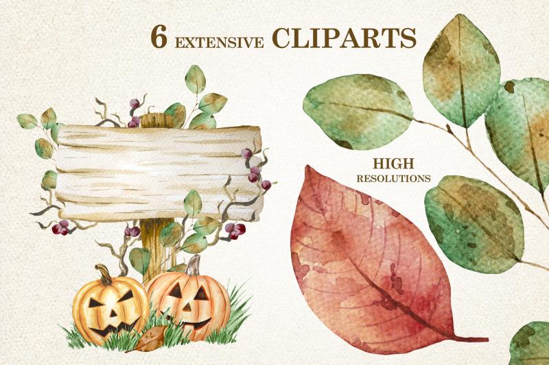 pumpkins-watercolor-cliparts