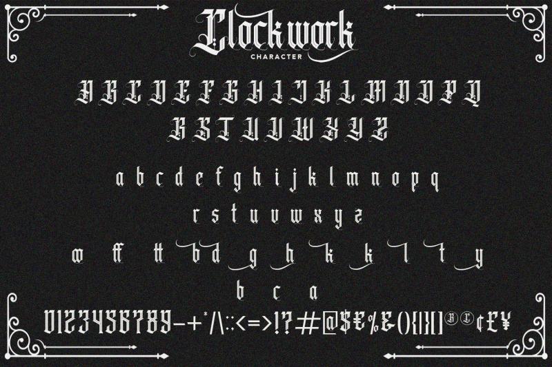 clockwork-blackletter-typeface