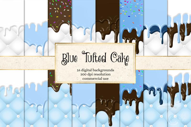 blue-tufted-cake-digital-paper
