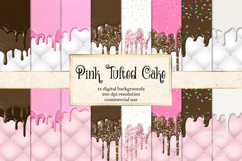 pink-tufted-cake-digital-paper