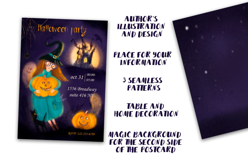 halloween-party-invitation-and-decor