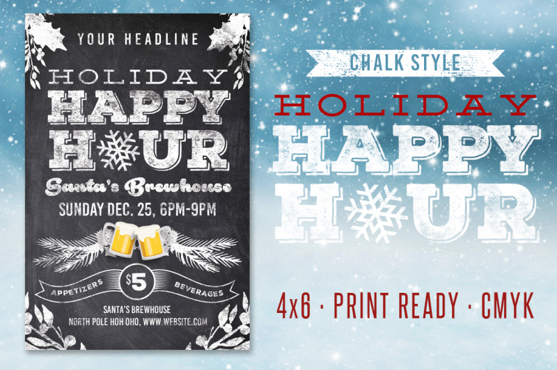 chalk-holiday-happy-hour-flyer