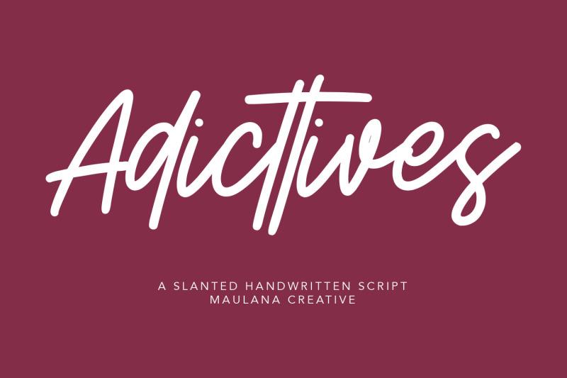 adicttives-slanted-handwritten-script-font