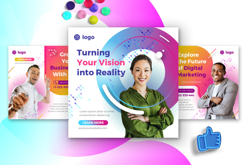 digital-agency-social-media-post-template-with-fun-color-theme