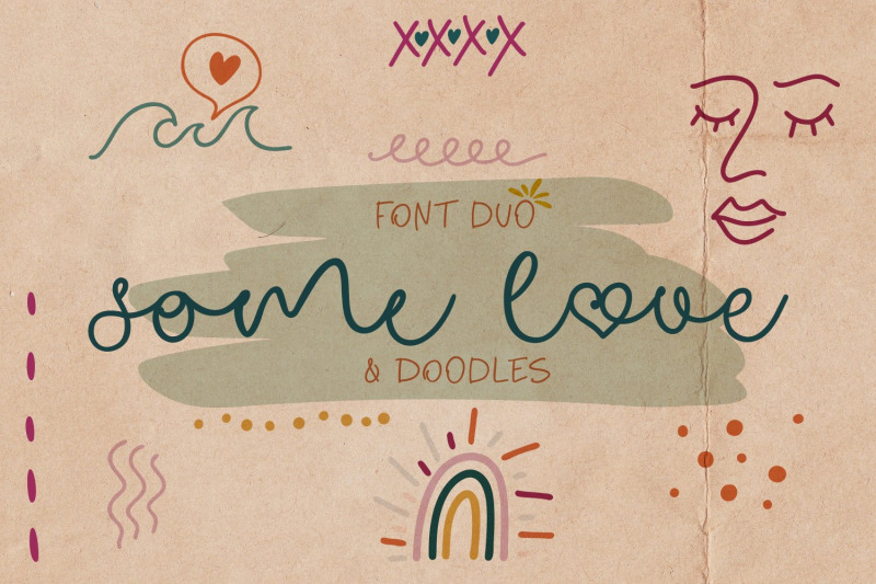 some-love-font-duo-amp-doodles