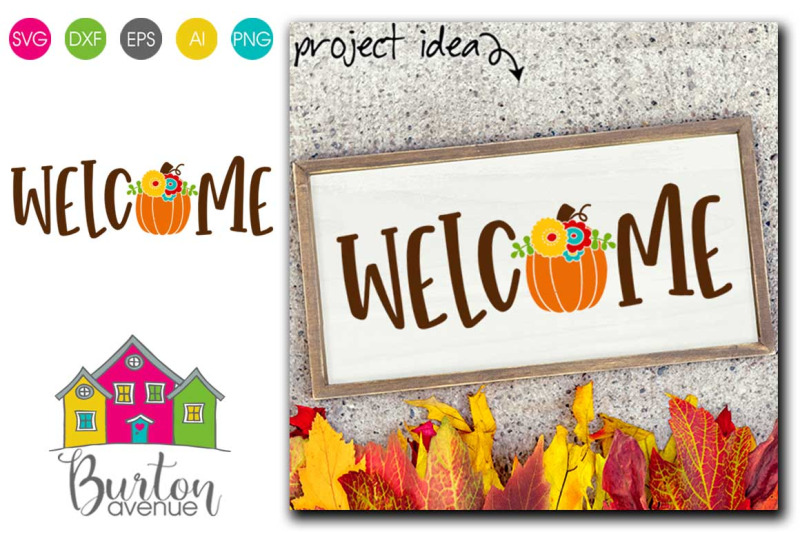 welcome-with-fall-pumpkin-fall-svg-file-fall-svg-file