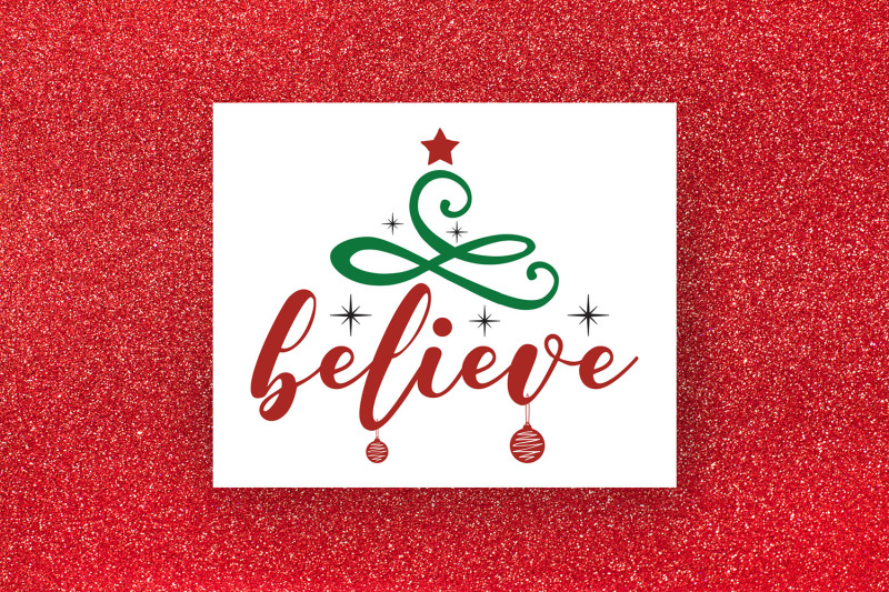 Believe Christmas Svg Christmas Ornament Svg Cut File By Craftlabsvg Thehungryjpeg Com