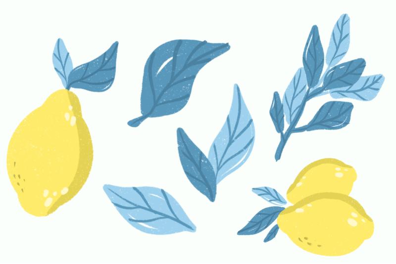 lemon-clipart-set