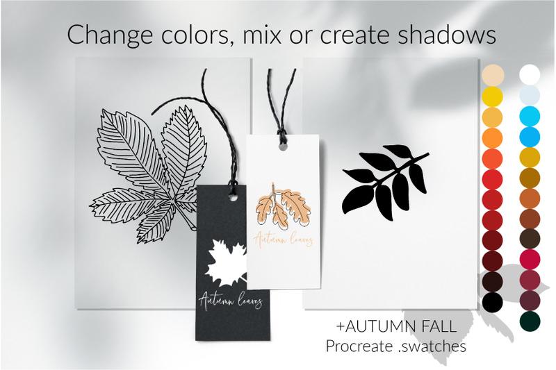 botanic-foliage-shadow-overlays-floral-shadow-pack-botanical-shadow
