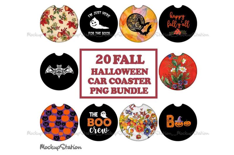 20-fall-halloween-car-coaster-sublimation-png-bundle