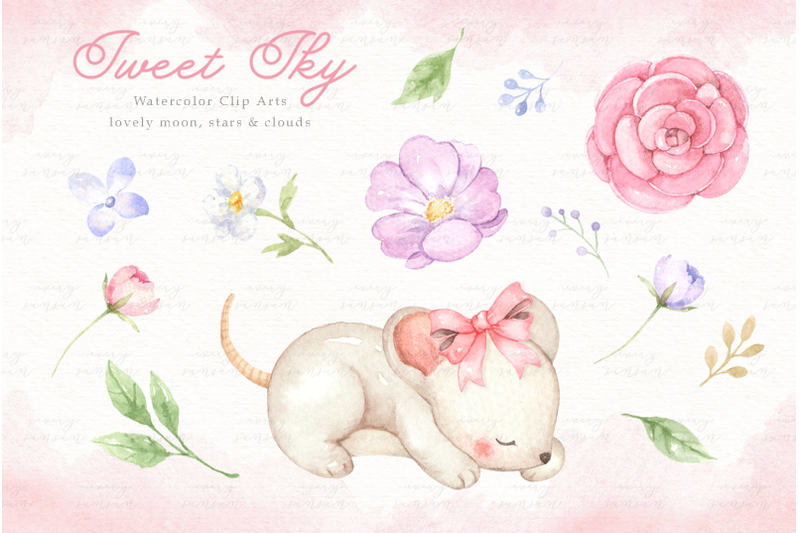 sweet-sky-watercolor-clip-arts