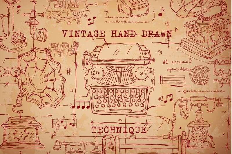 vintage-hand-drawn-technique