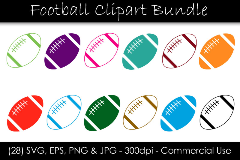 football-clipart-bundle-football-vector-art
