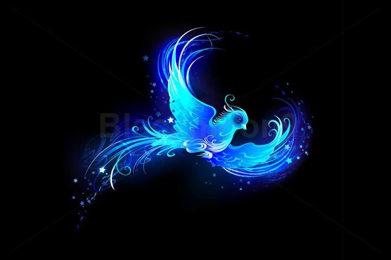 blue-flame-bird
