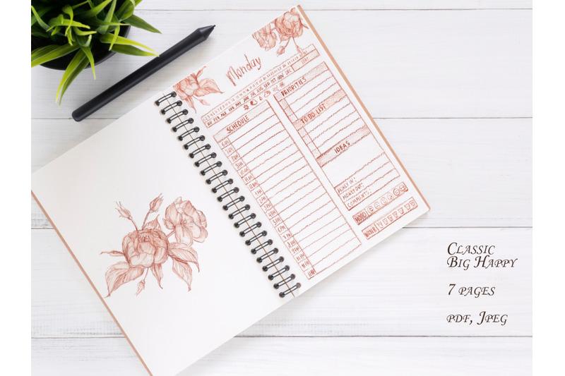 beautiful-vintage-planner-daily-planner-day-work-planner-weekly-plann