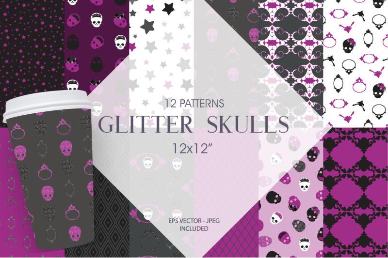 glitter-skulls