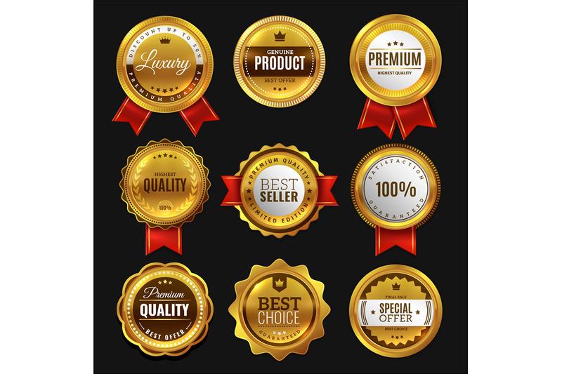 gold-sale-badges-premium-golden-emblem-luxury-genuine-and-highest-qu
