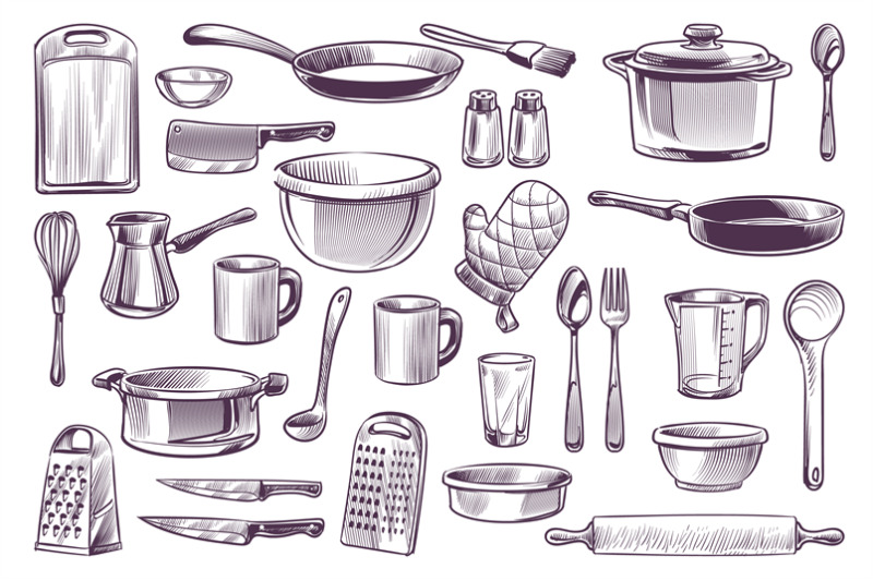 sketch-cooking-equipment-hand-drawn-doodle-kitchen-utensils-set-cooki