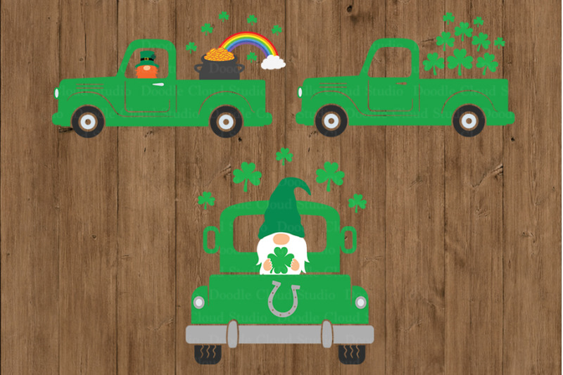 st-patrick-039-s-truck-svg-truck-svg-cut-files-truck-with-gnome-svg