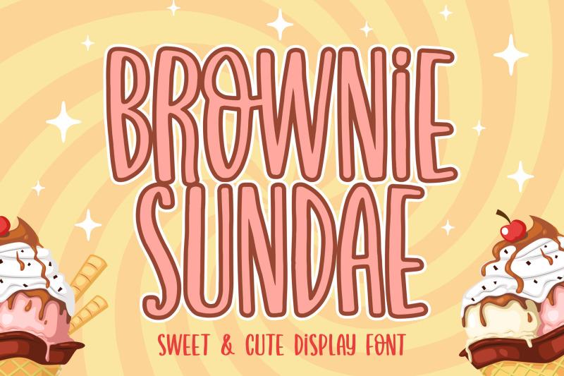 brownie-sundae