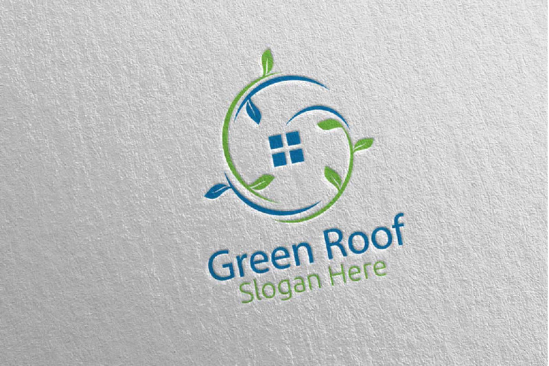 real-estate-green-roofing-logo-49