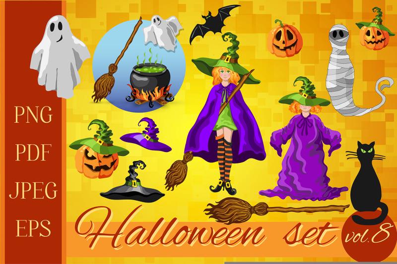 set-of-halloween-characters