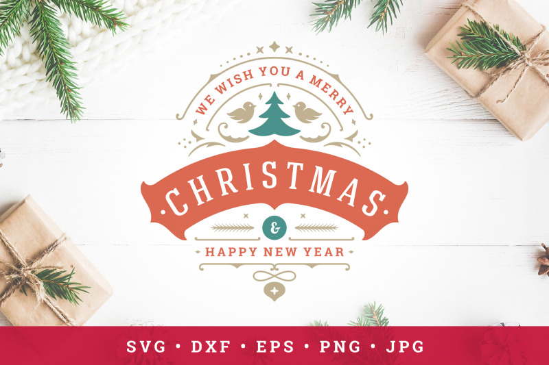 christmas-saying-design-with-tree-silhouette
