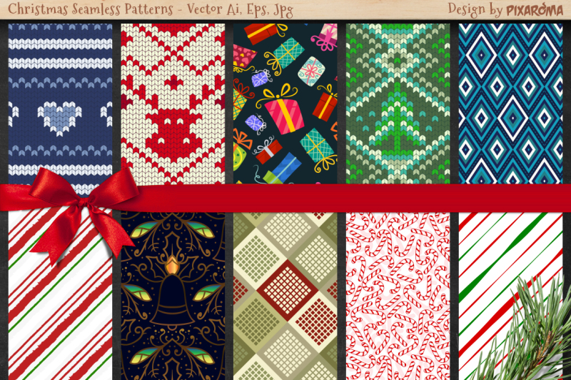 50-christmas-seamless-patterns