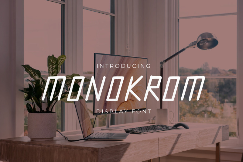 monokrom-modern-display-font