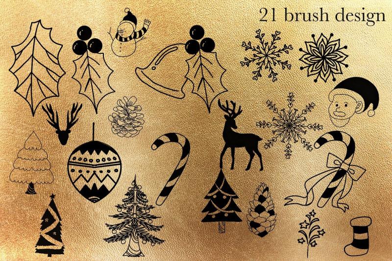 chrismas-procreate-stamp-brush
