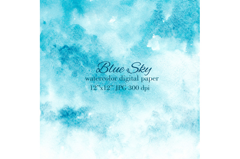 blue-sky-stain-wash-watercolor-texture-background