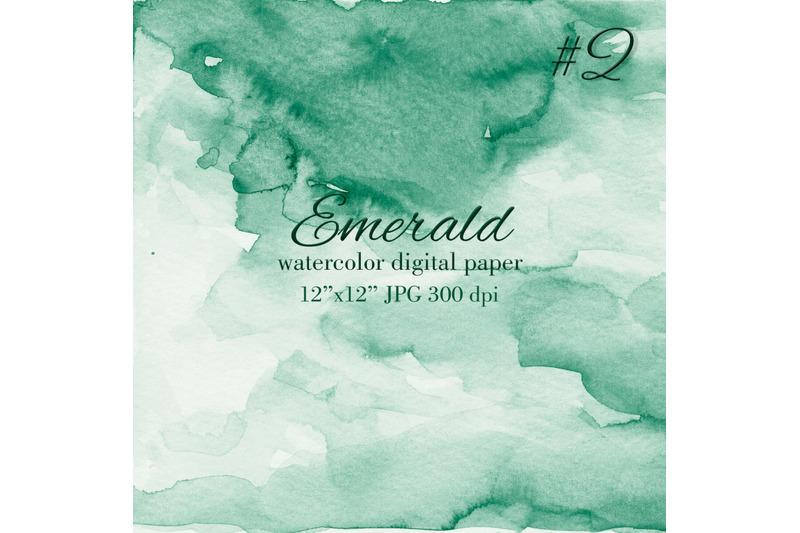 emerald-green-watercolor-texture-invitation-background
