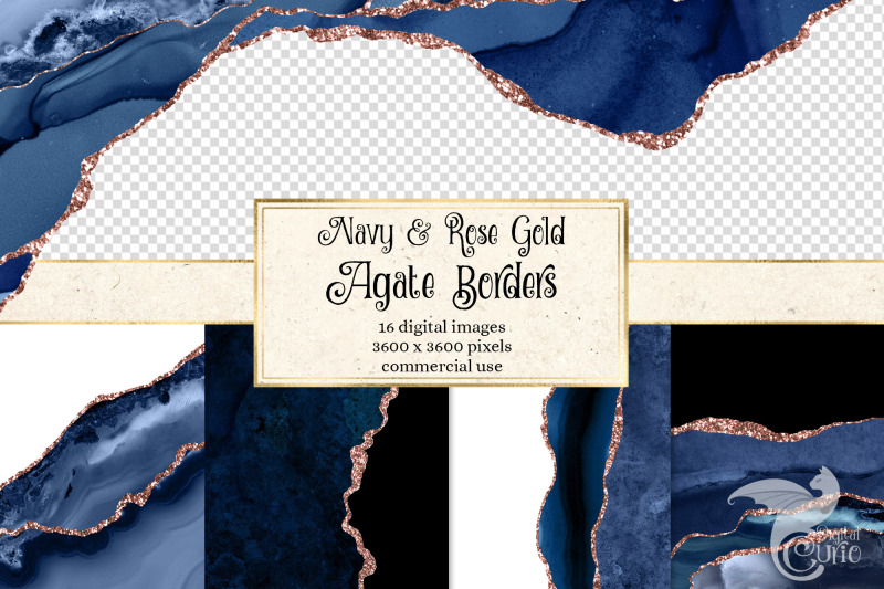 navy-and-rose-gold-agate-borders